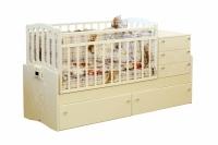 Детская кровать-трансформер Daka Baby Укачайка 05 (ваниль) -