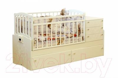 Детская кровать-трансформер Daka Baby Укачайка 05 (ваниль)
