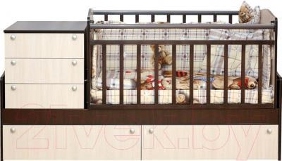 Детская кровать-трансформер Daka Baby Укачайка 05 (комбинированный)