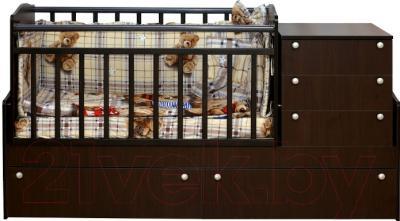Детская кровать-трансформер Daka Baby Укачайка 05 (венге)