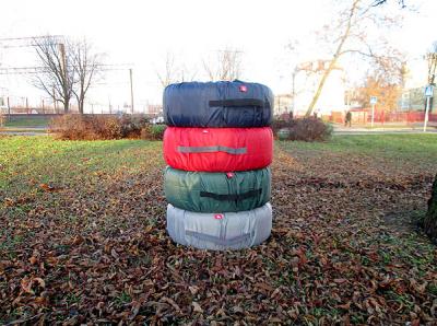 Чехол для колес ТрендБай Коверин 255 (красный)