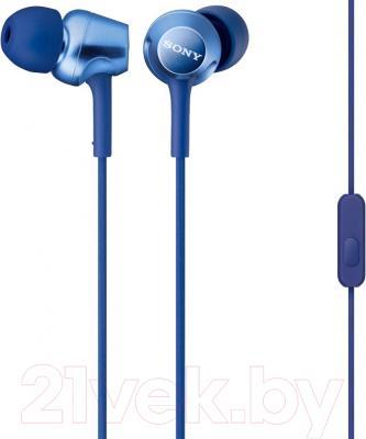 Наушники-гарнитура Sony MDR-EX250APLI (синий)