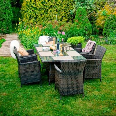 Комплект садовой мебели Garden4you Wicker 13333+1269/6 (темно-коричневый)