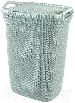 Корзина для белья Curver Knit 03676-X60-00 (синий)