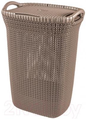 Корзина для белья Curver Knit 03676-X59-00 (коричневый)