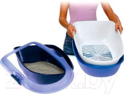 Туалет-лоток Trixie Berto 40153 (голубой/серый/гранит)