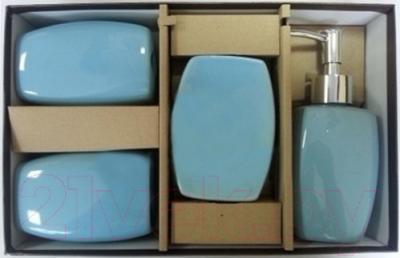 Набор аксессуаров для ванной Максресурс BH082-3 (голубой)