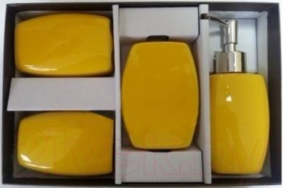 Набор аксессуаров для ванной Максресурс BH082-2 (желтый)
