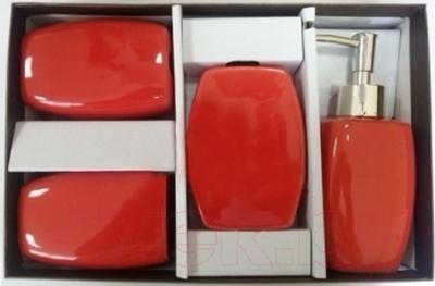 Набор аксессуаров для ванной Максресурс BH082-4 (красный)