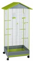 Клетка для птиц Voltrega 001430GP (серый/фисташковый) -