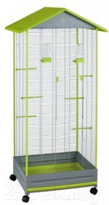 Клетка для птиц Voltrega 001430GP (серый/фисташковый)
