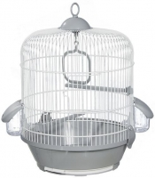 Клетка для птиц Voltrega 001716BG (белый/серый) -