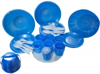 Набор пластиковой посуды Белпласт Пикник с215-2830 (голубой) -