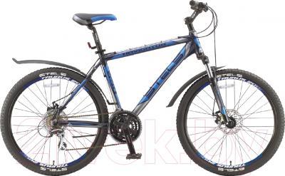 Велосипед Stels Navigator 650 MD 2016 (19,темно-синий/серебристый/синий)