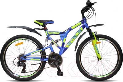 Велосипед Stels Mustang V 2016 (24, голубой/синий/зеленый)