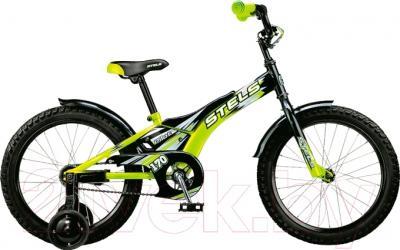 Детский велосипед Stels Pilot 170 2015 (18, черный/зеленый)