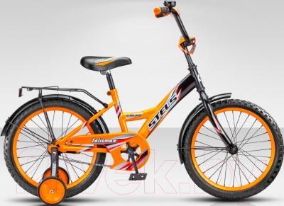 Детский велосипед Stels Talisman Black 18 2015 (черный/оранжевый)