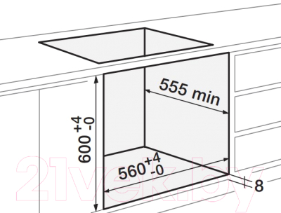 Электрический духовой шкаф Zigmund & Shtain EN 282.722 W
