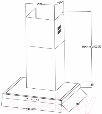Вытяжка Т-образная Zigmund Shtain K 201.91 S