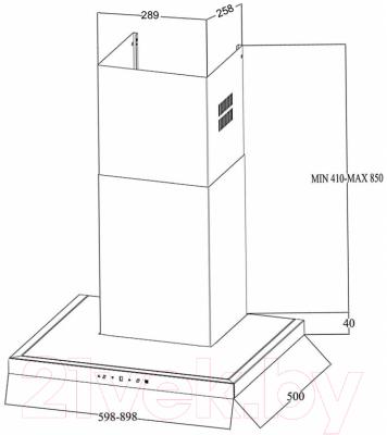 Вытяжка Т-образная Zigmund & Shtain K 201.91 W