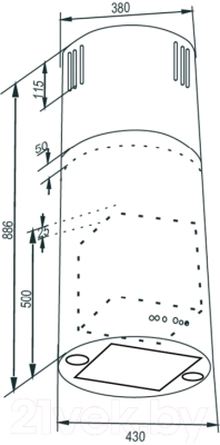 Вытяжка коробчатая Zigmund & Shtain K 330.41 S