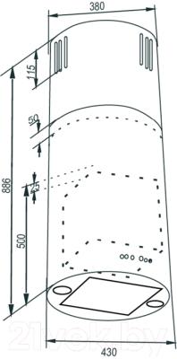 Вытяжка коробчатая Zigmund & Shtain K 331.41 S