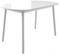Обеденный стол Mamadoma Раунд (белый/серый) -