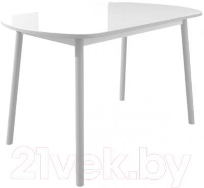 Обеденный стол Mamadoma Раунд (белый/серый)