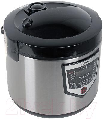 Мультиварка Lumme LU-1446 Chef Pro (черный/сталь) - вид спереди