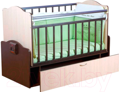 Кроватка Daka Baby Укачайка 02 (комбинированный)