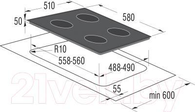 Индукционная варочная панель Korting HI6402BW