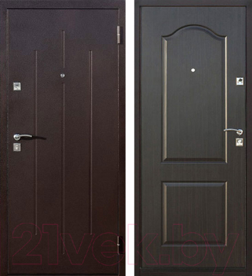 Входная дверь Йошкар Стройгост 7-2 Венге (86x206, правая)