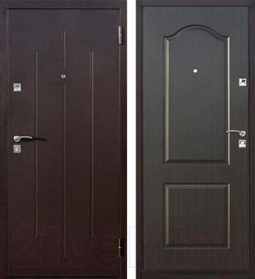 Входная дверь Йошкар Стройгост 7-2 Венге (96x206, правая)