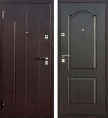 Входная дверь Йошкар Стройгост 7-2 Венге (96x206, левая)