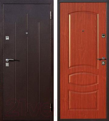 Входная дверь Йошкар Стройгост 7-2 Итальянский орех (98x206, правая)