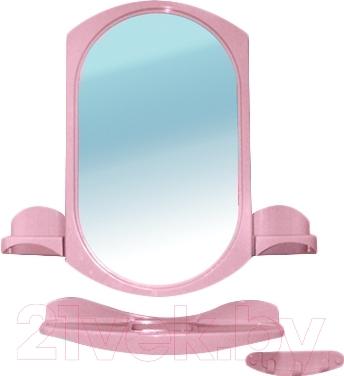 Комплект мебели для ванной Белпласт Купалинка с275-2830 (розовый)