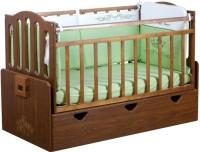 Детская кроватка Daka Baby Укачайка 03 (орех) -