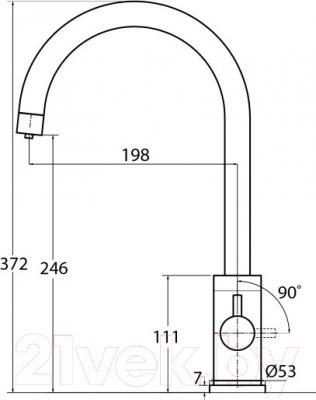 Смеситель Aquasanita 2963 (черный металлик) - схема