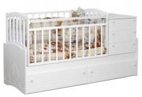 Детская кровать-трансформер Daka Baby Укачайка 04 (белый) -