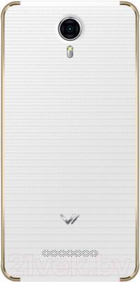 Смартфон Vertex Impress Max (белый/золото)