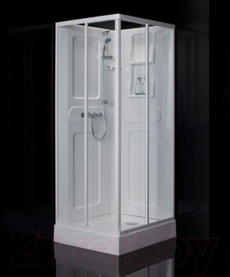 Душевая кабина Belezzo HX-165 80x80 (белый/прозрачное стекло)