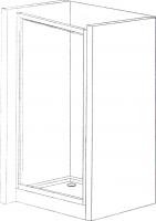 Душевая дверь Belezzo HX-151 90x90 (хром/прозрачное стекло) -