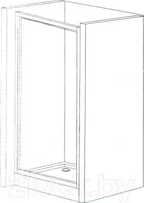 Душевая дверь Belezzo HX-151 90x90 (хром/прозрачное стекло)