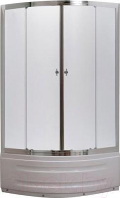 Душевой уголок Belezzo HX-514 80x80 (хром/рифленое стекло)