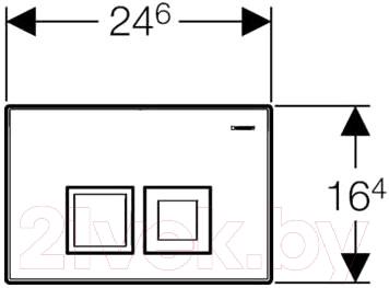 Кнопка для инсталляции Geberit Delta 50 115.135.21.1 - схема