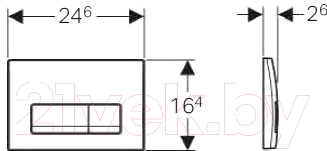 Кнопка для инсталляции Geberit Delta 51 115.105.21.1 - схема
