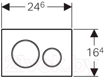 Кнопка для инсталляции Geberit Sigma 20 115.882.KJ.1 - схема