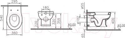 Унитаз подвесной VitrA Efes (5802B003-0075) - схема