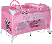Кровать-манеж Lorelli Travel Kid Rocker Pink Panda (10080231637) -
