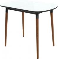 Обеденный стол Mamadoma Бейз mini (белый/темное дерево) -